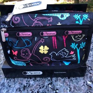 NWT Le SPORTSAC essentials/makeup/travel pouch 💋